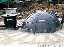 Sintex's biogas digester ingests crap, emits energy