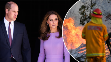 William and Kate pay touching tribute to Aussies affected by bushfires