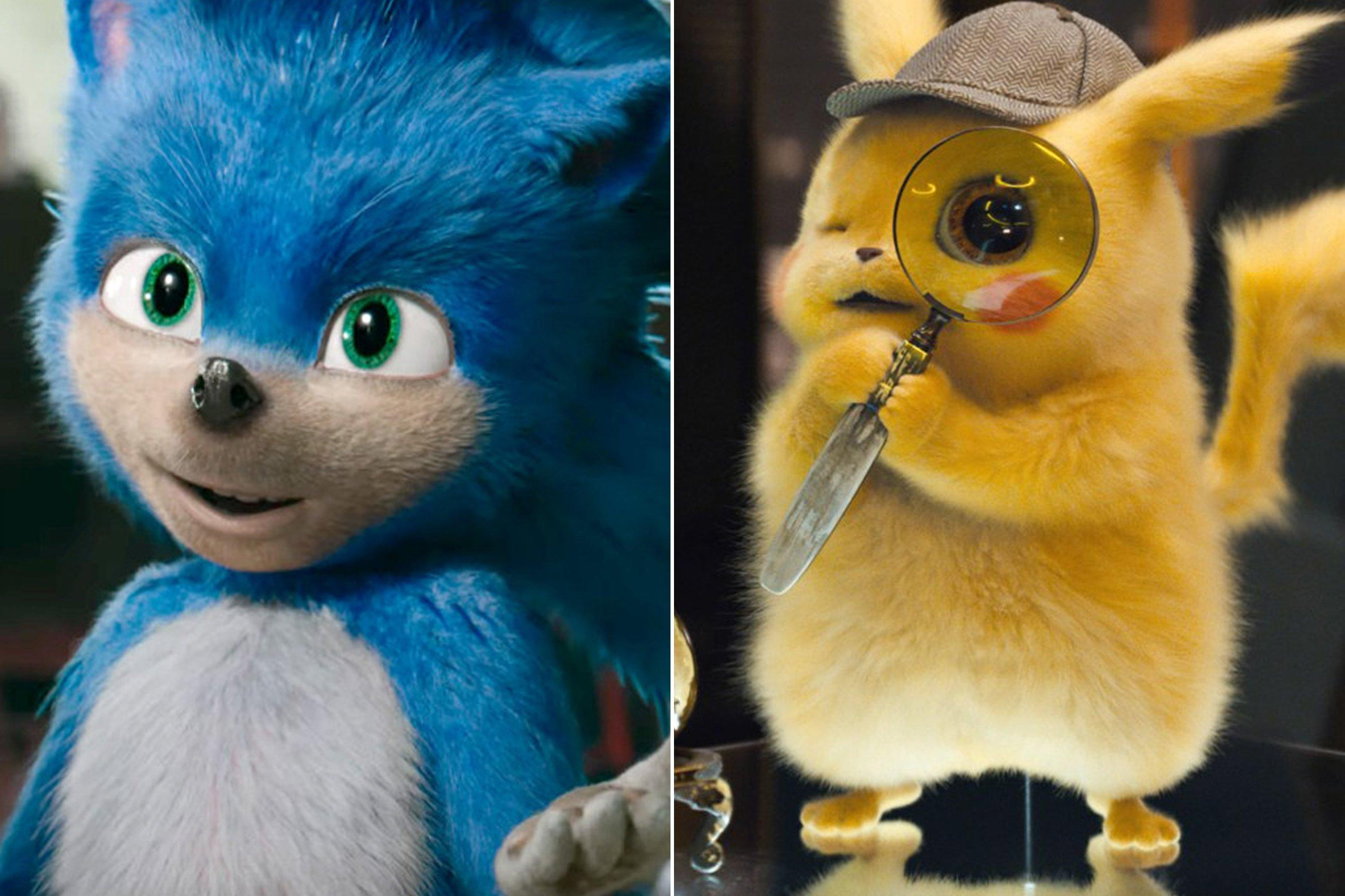 Creepy Or Cute Let S Compare Sonic The Hedgehog And Detective Pikachu