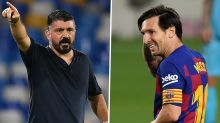"""Técnico do Napoli sobre parar Messi: """"Só em sonho ou no Playstation"""""""