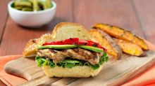 This soy sauce marinated grilled chicken sandwich is anything but boring