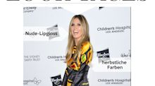 Look des Tages: Heidi Klum im farbenfrohen Vintage-Dress