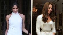 Royal Wedding Flashback! See Kate Middleton's 2011 Reception Dress Next to Meghan Markle's