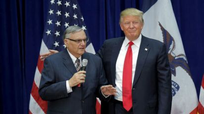 Trump hints at pardon for former Sheriff Arpaio