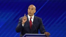 U.S. presidential candidate Booker says he will bolster worker rights, hike taxes on rich