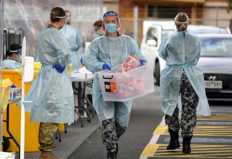 In the last week, 160,000 tests have been carried out in the Melbourne area (AFP Photo/William WEST)