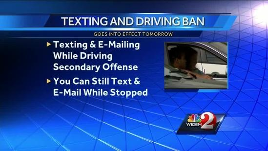 Texting-while-driving ban goes into effect Tuesday