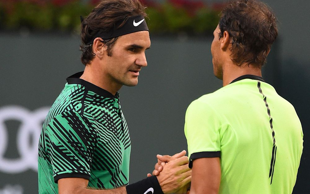 Roger Federer and Rafa Nadal go head to head in the Miami Open final - Rex Features