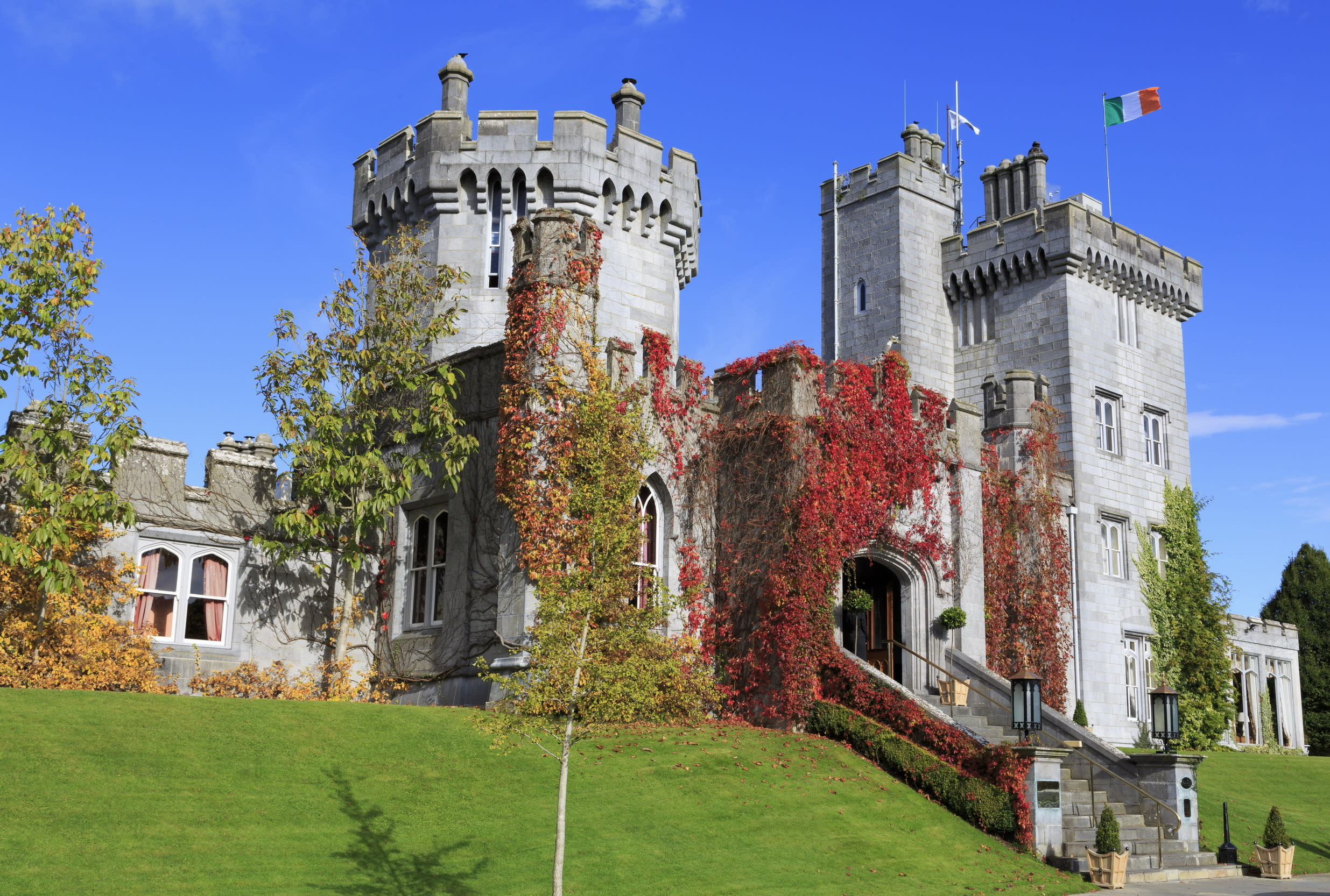 """<p>Ireland's largest five-star resort outside of Dublin, 17<sup>th</sup> century <a href=""""http://www.dromoland.ie/"""" target=""""_blank"""">Dromoland Castle</a>, is perfect for romantics. Book yourself into the secluded cottage inside the walls of Dromoland castle and have a honeymoon fit for royalty. 'Castle Keep Cottage' is luxurious in every sense of the word: there's a jacuzzi, and the master bedroom overlooks beautiful 17th-century gardens and Lough Dromoland. Think Irish heirlooms chandeliers, hand-carved paneling, oil paintings, custom-made carpets and draperies. By day, live like kings and queens and wander through the charming gardens and surroundings, or make use of the full-service health spa and beauty salon. By night dine like royalty in the castle's five-star award-winning restaurant, the Earl of Thomond,then retreat back to your private space with a bottle of bubbly.<span style=""""font-size:14px;"""">Tip: If you can't afford the cottage (or it's fully booked on your dates), the rooms in the club wing of the castle (complete with oversized windows and nine-foot ceiling) are also very grand, and have sumptuous upholstery and furnishings.</span></p>"""