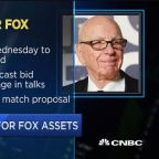 Disney expected to add cash to current bid for Fox, say s...