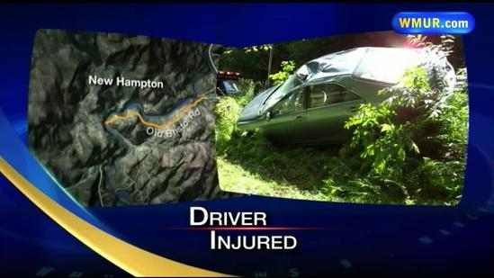 Man hurt after tree branch falls on car in New Hampton