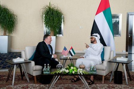 U.S. Secretary of State Mike Pompeo and Abu Dhabi's Crown Prince Sheikh Mohammed bin Zayed al-Nahyan meet at the Al Shati Palace