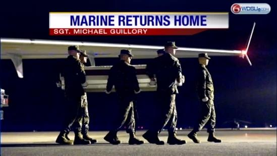 Somber homecoming for fallen US Marine