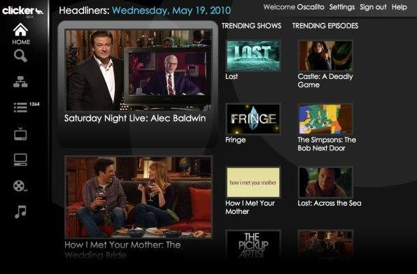 Clicker.tv brings streaming internet video to your TV's browser; it has a web browser right?