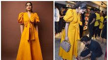 Sonam Kapoor, Anand Ahuja Twin in Trendy Sneakers at Brand Preview Launch