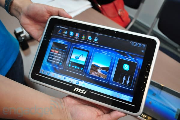 MSI waiting on Intel Oak Trail for Win 7 tablet, Android version will hit before end of the year