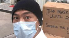 Dicky Cheung donates face masks to Italy