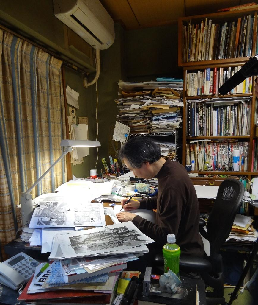 Manga artist Jiro Taniguchi first shot to fame in Japan at the end of the 1980s with the first volume of 'The Times of Botchan' (AFP Photo/Karyn Poupee)