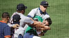 Brawl breaks out after A's batter charges Astros' dugout