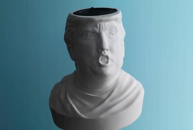 Donald der Große: Trump-Büste als Bluetooth-Lautsprecher