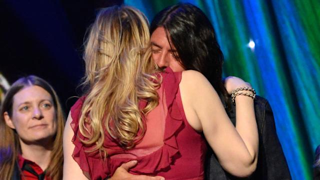 Dave Grohl and Courtney Love Hug