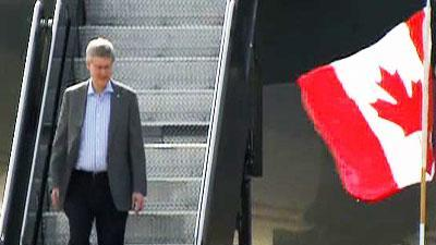 Raw Video: Canada's Harper Arrives for summit