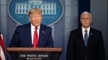 Trump empfiehlt US-Bürgern wegen Corona-Pandemie das Bedecken von Mund und Nase