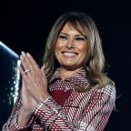 Melania Trump Lights the National Christmas Tree in Candy Cane Colors + Chic Prints