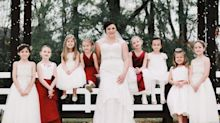 The supersweet reason this bride had 15 kids in her wedding