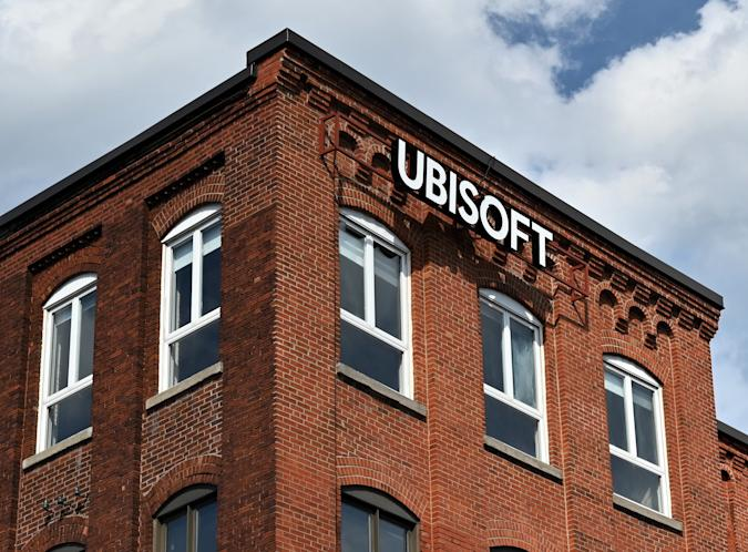 """French videogame giant Ubisoft's Montreal office is seen on July 18, 2020 in Quebec, Canada. - The recent sexual-harassment scandal shaking Ubisoft, the leading French video game publisher and one of the biggest names around the world, is only the tip of the iceberg, the 34-year-old Quebec native longtime female pro-gaming icon, Stephanie """"missharvey"""" Harvey told AFP. (Photo by Eric THOMAS / AFP) (Photo by ERIC THOMAS/AFP via Getty Images)"""