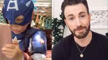 Chris Evans manda mensagem emocionante para garoto que salvou irmã de ataque canino