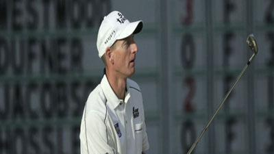 Furyk, McDowell share US Open lead, Tiger slides