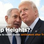 Israel moves to name small Golan Heights settlement after Trump