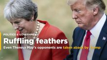 Even Theresa May's opponents are taken aback by Trump's Brexit attack