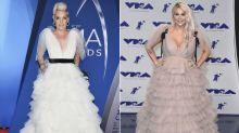 Ein Kleid, zwei Looks: Pink vs. Kesha