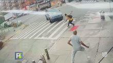 Conductor atropella a un hispano y casi le pasa por encima nuevamente