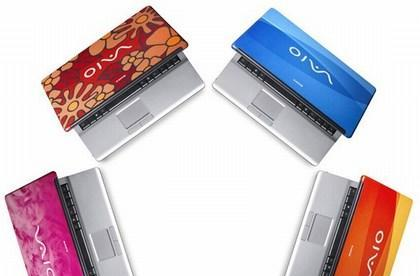 Sony releases FJ290 customizable, colorful notebook line
