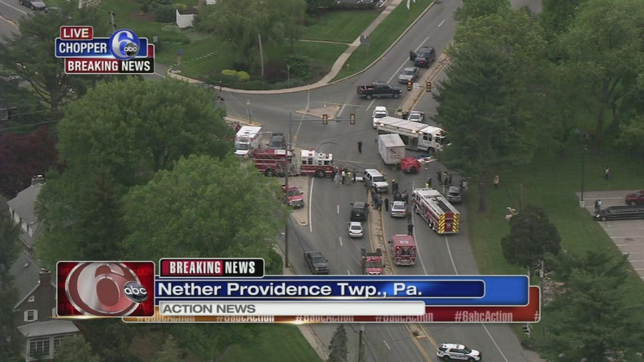SUV, box truck involved in Nether Providence crash