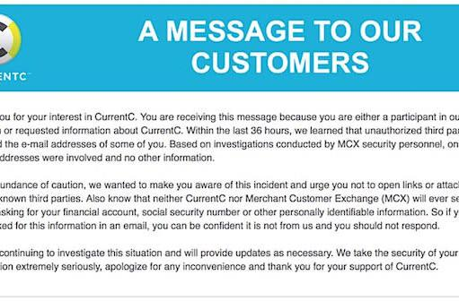 Another black eye for MCX -- email list for CurrentC breached
