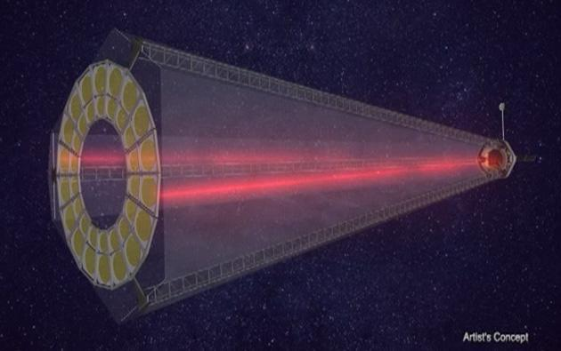 DARPA tests ground-based prototype of its folding space telescope (video)