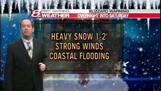 Video: Updated nor'easter forecast