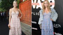 Ein Kleid, zwei Styles: Lena Gercke und Paris Hilton