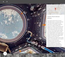 Google Street View travels to the final frontier, capturing images from outer space