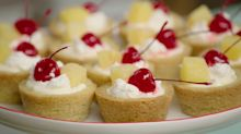 Best Bites Summer Entertaining: Pina colada cookie cups