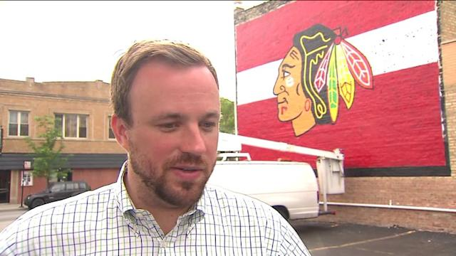 Giant Mural Adds to Blackhawk Fever