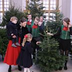 Sweden's Princess Estelle and Prince Oscar Receive Their Royal Christmas Trees in Adorable Photo
