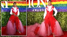 American performer Billy Porter makes abortion rights statement in suit-gown featuring uterus