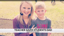 Teacher jumps into action after seeing student riding bike on highway, learns he's trying to save his father's life
