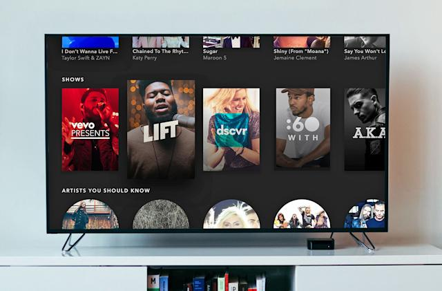 Vevo's Apple TV app takes cues from Spotify