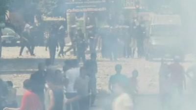 Raw Video: Rioting in Egyptian Capital